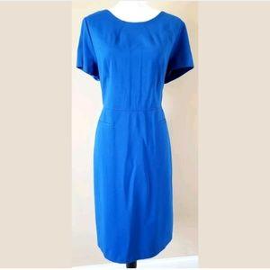 Talbots Blue Short Sleeve Shift Dress Size 14 (130